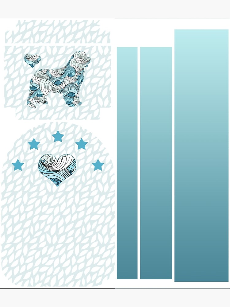 Blue Swirls Newfie Pattern by itsmechris