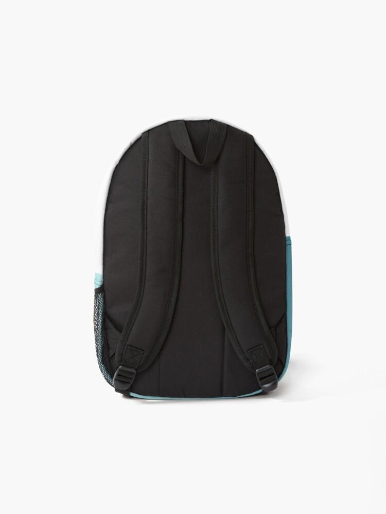 Alternate view of Blue Swirls Newfie Pattern Backpack