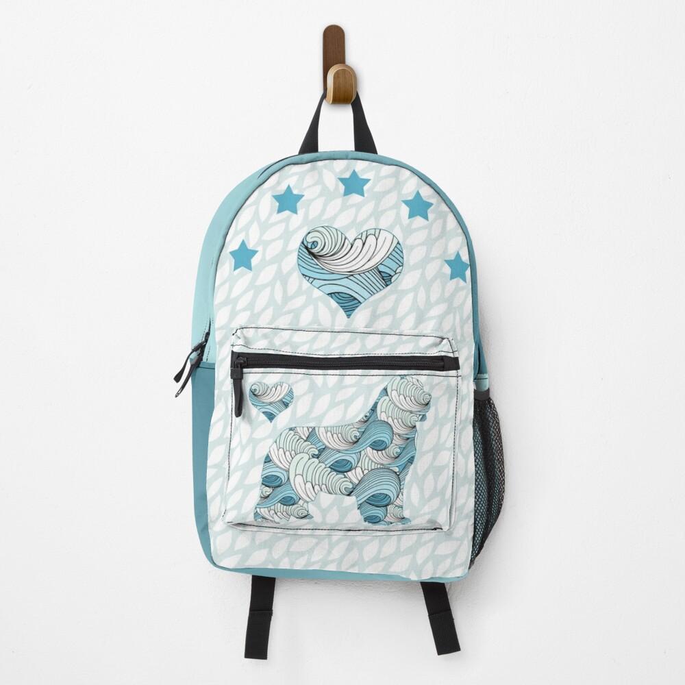 Blue Swirls Newfie Pattern Backpack