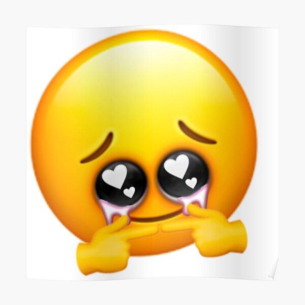 Shy Sad Emoji Fingers Poster by yawnni | Redbubble
