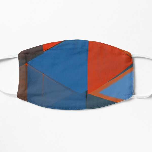 Blue Diamonds Flat Mask