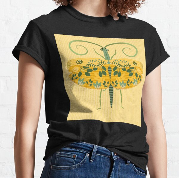 Flying Grasshopper in Yellow Gold and Green Classic T-Shirt