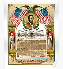ABE LINCOLN's EMANCIPATION PROCLAMATION Poster