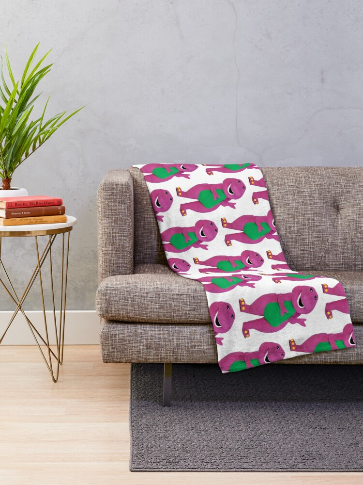 Alternate view of Barney The Dinosaur Throw Blanket