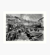 SOUTH DAKOTA's DEADWOOD CITY c. 1876 Art Print