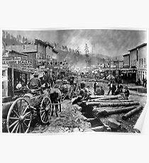 SOUTH DAKOTA's DEADWOOD CITY c. 1876 Poster