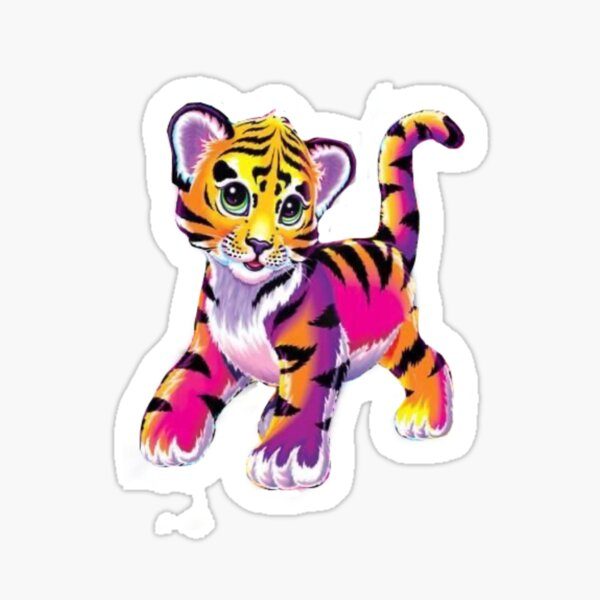 Colorful Tiger(Lisa Frank) Sticker