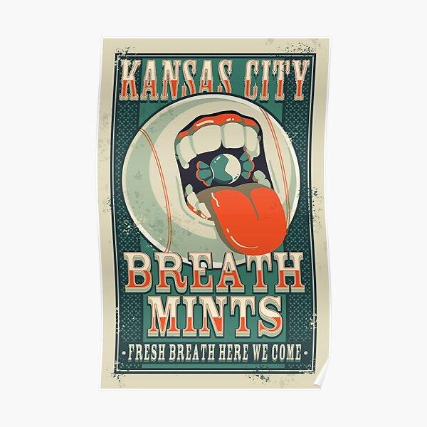 Kansas City Breath Mints Poster