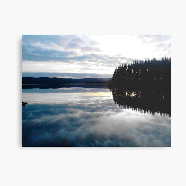 Kielder Water Sky Reflection Metal Print