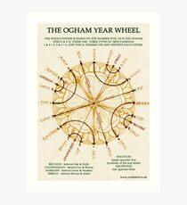 Ogham Year Wheel Art Print