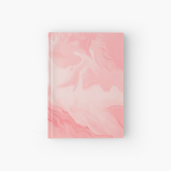 Pink flowing acrylic project Hardcover Journal