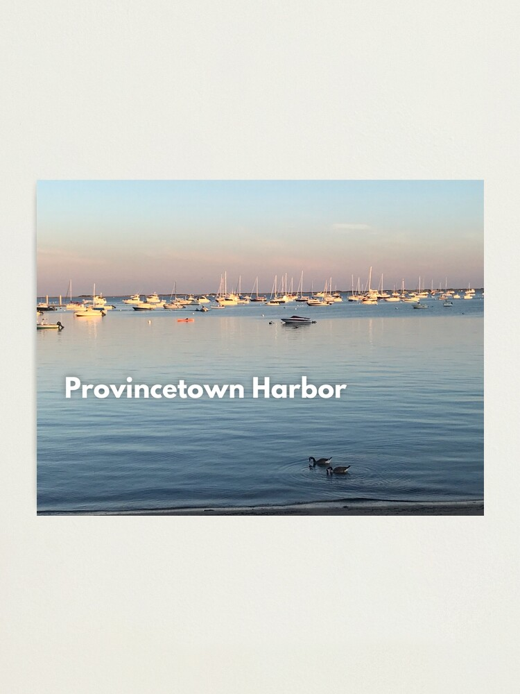 Alternate view of Provincetown Harbor Photographic Print