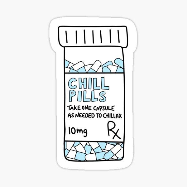 Chill Pills blue Sticker