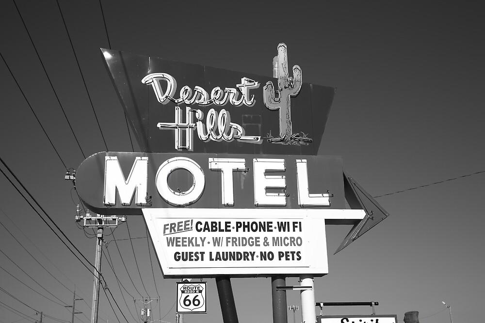 Route 66 - Desert Hills Motel by Frank Romeo
