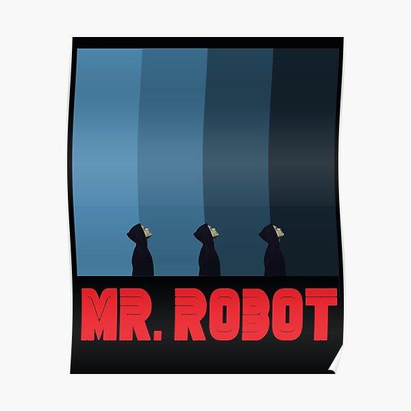 Mr Robot bleu Poster