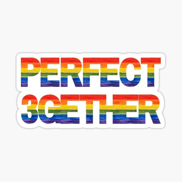 Perfect 3gether (Throuple). Polyamory Sticker
