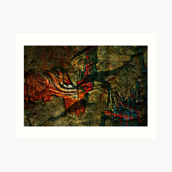 Cave Man Writings Art Print