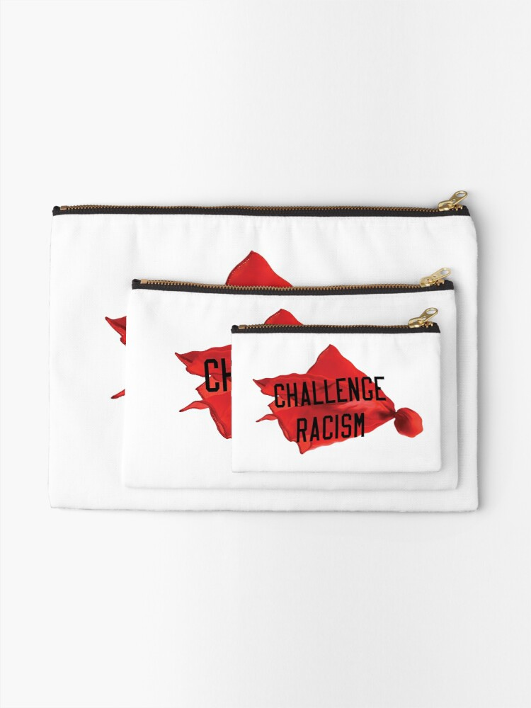 Alternate view of Challenge Racism Collection Zipper Pouch