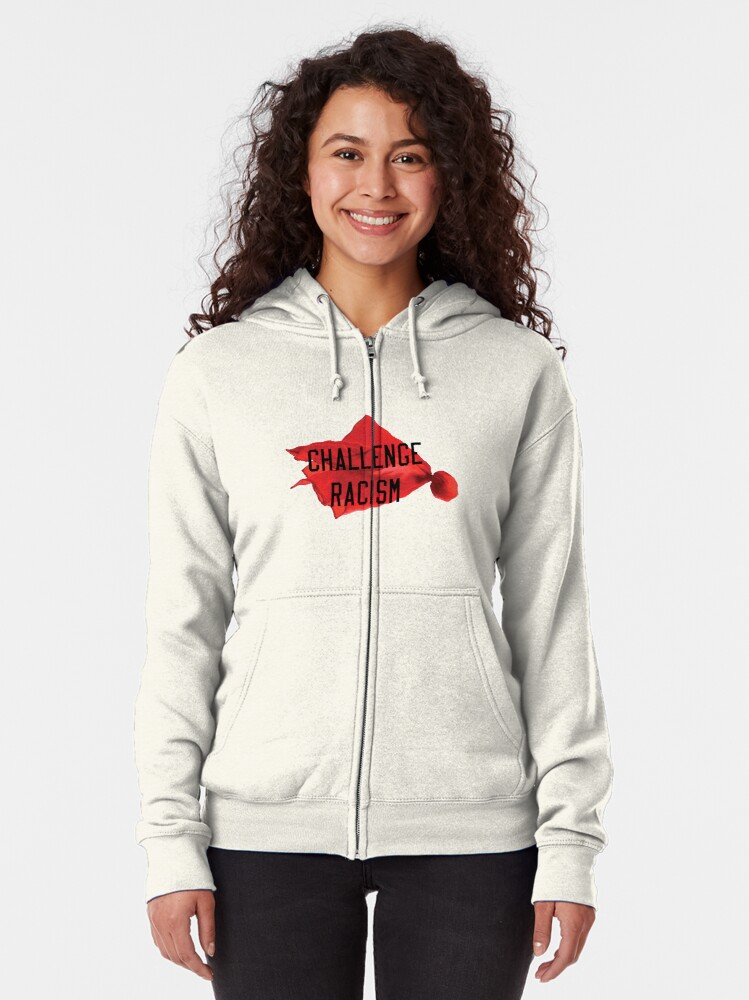 Alternate view of Challenge Racism Collection Zipped Hoodie
