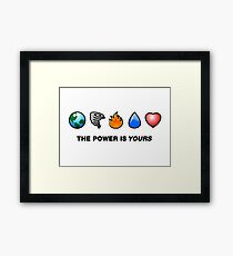 Captain Planet Icons Framed Print