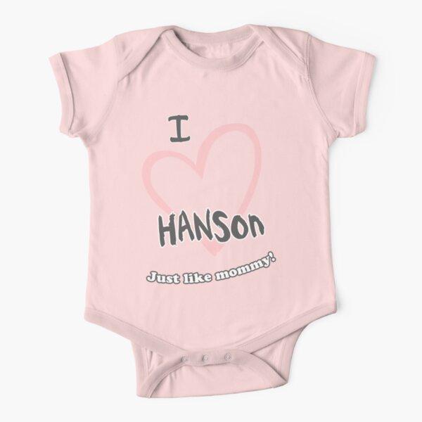 I <3 Hanson...Just like mommy Short Sleeve Baby One-Piece