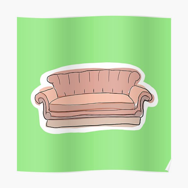 Central perk couch  Poster