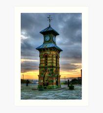 Tynemouth Clock Tower Art Print
