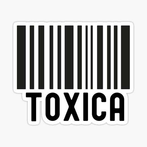 Código de barras Toxica Pegatina