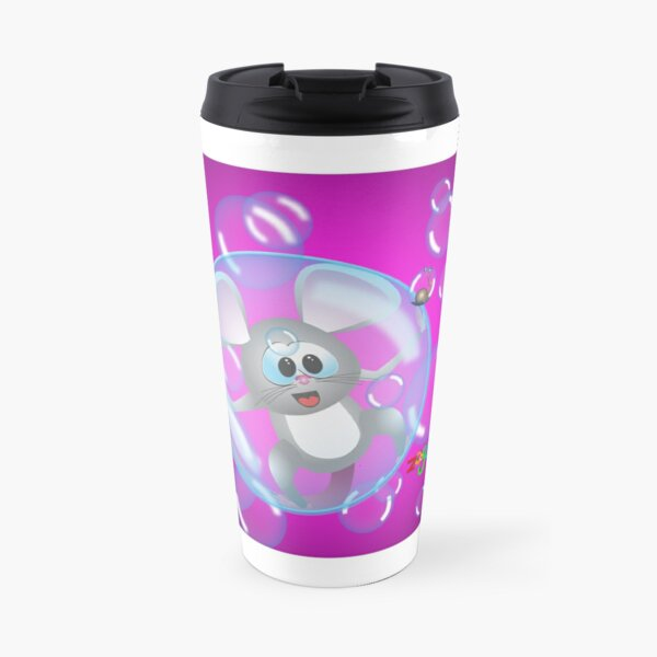 Mouse in a bubble Travel Mug