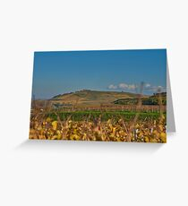 View of the Kaiserstuhl near Burg Sponeck Greeting Card