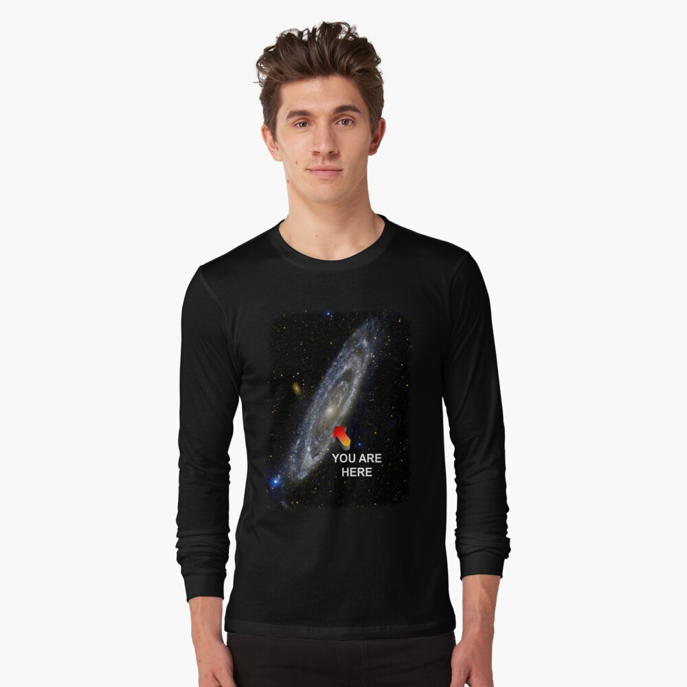 Your Galactic Street Locator Long Sleeve T-Shirt