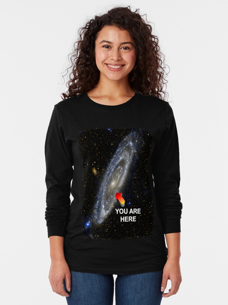 Alternate view of Your Galactic Street Locator Long Sleeve T-Shirt