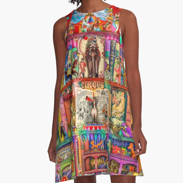 The Marvelous Circus A-Line Dress