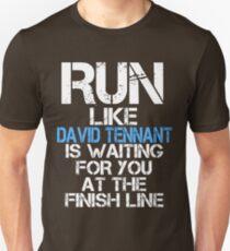 Run Like David Tennant is Waiting (dark shirt) T-Shirt