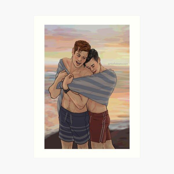 Beach Cuddles Art Print