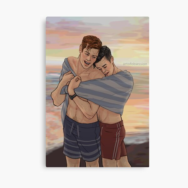 Beach Cuddles Canvas Print