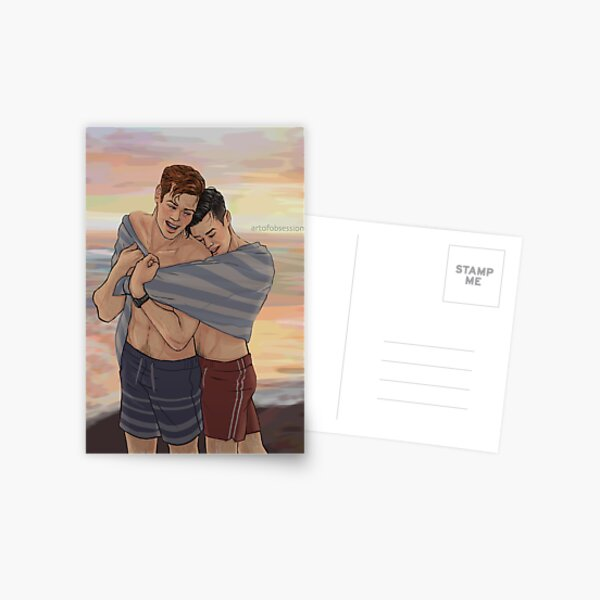 Beach Cuddles Postcard
