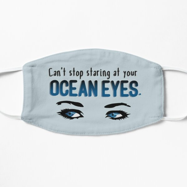 Staring At Your Ocean Eyes - Billie Eilish Design Flat Mask