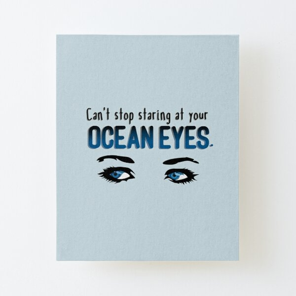 Staring At Your Ocean Eyes - Billie Eilish Design Canvas Mounted Print