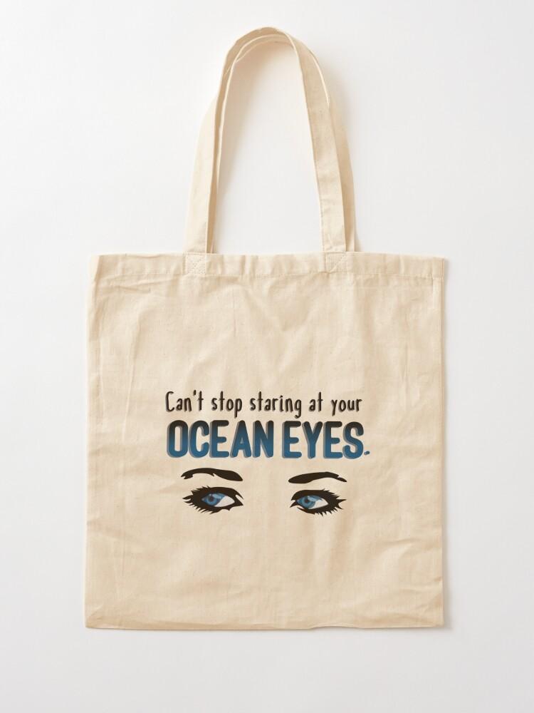 Alternate view of Staring At Your Ocean Eyes - Billie Eilish Design Tote Bag