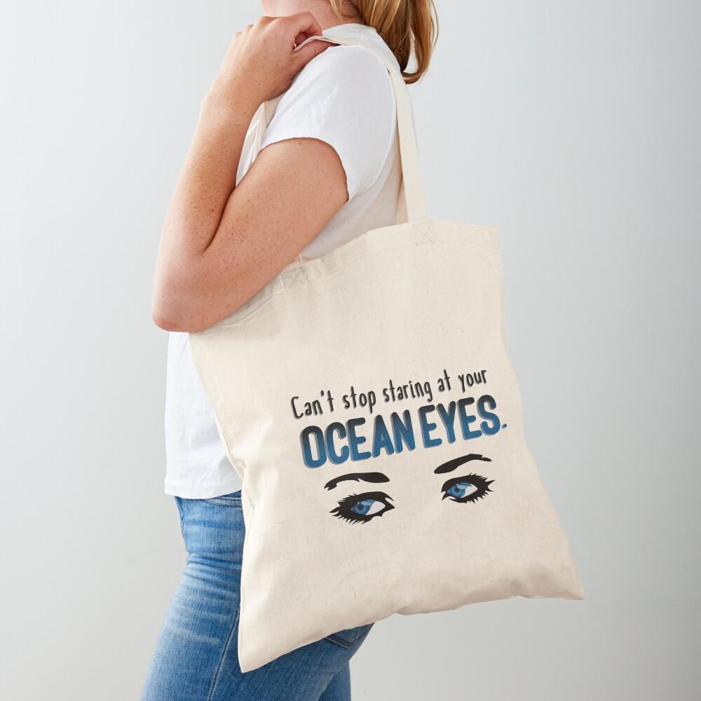 Staring At Your Ocean Eyes - Billie Eilish Design Tote Bag