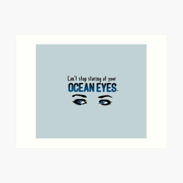 Staring At Your Ocean Eyes - Billie Eilish Design Art Print