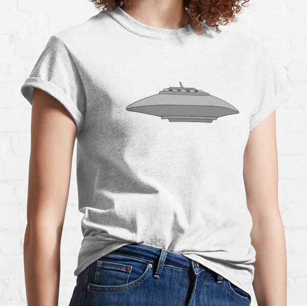 UFO Flying Saucer Alien Spaceship Cartoon Classic T-Shirt
