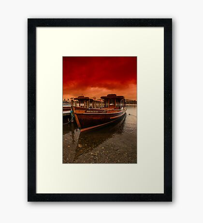 lake Windermere Boat Framed Print