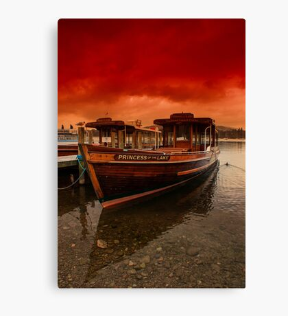 lake Windermere Boat Canvas Print