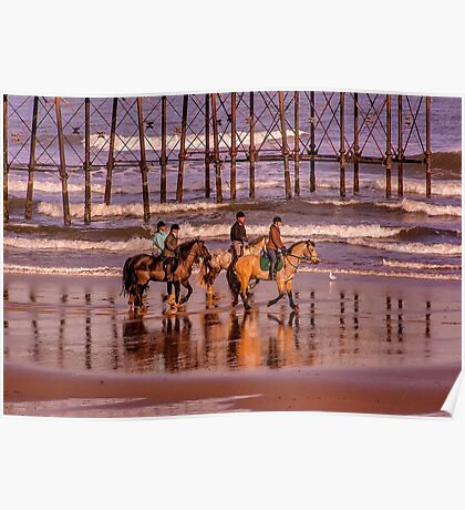 Morning Ride Saltburn Poster