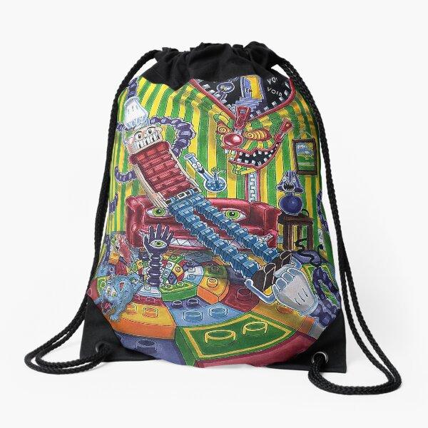 Accordion boy Drawstring Bag