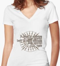 u2 i can't change the world Women's Fitted V-Neck T-Shirt