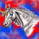 Digital Unicorn  by WildestArt