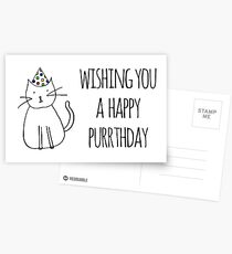 Wishing You A Happy Purrthday Postkarten
